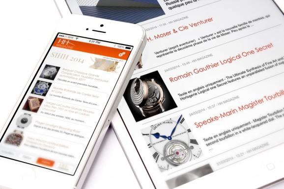 Suivez l'actualité horlogère du HH Magazine sur iPad et iPhone