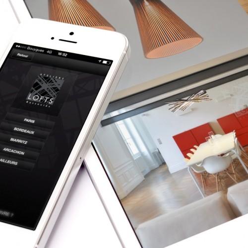 Application iPhone - Ateliers Lofts & Associés