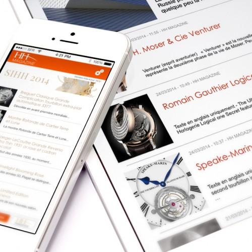 Fondation de la Haute Horlogerie - Application iPhone/iPad HH Magazine